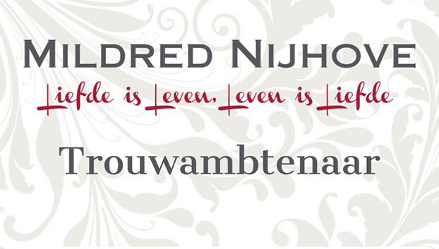 Trouwambtenaar Mildred Nijhove