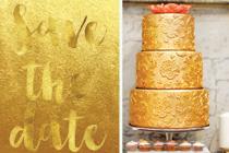 Een feestelijk bruiloft in goud