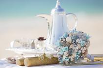 Het mooiste bruidsboeket voor het strand
