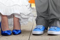 Bruidegom schoenen en sokken